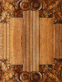 Wood background with carving Royalty Free Stock Photos