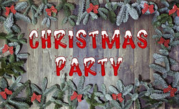 Wood background christmas party Stock Photography