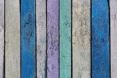 Texture wooden boards painted in different colors royalty free stock image