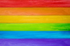 Rainbow pride or lesbian, gay, bisexual, and transgender flag. Wood background in colours of the Rainbow pride or lesbian, gay, bisexual, and transgender flag royalty free stock images