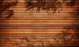 Wood background & frame with bamboo Stock Image
