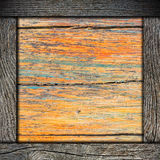 Wood background with frame. Wood wall background with wooden frame Royalty Free Stock Photo