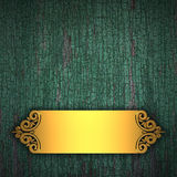 Wood Background with Golden Band Royalty Free Stock Photography
