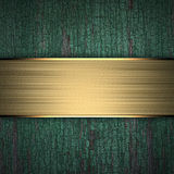 Wood Background with Golden Band Royalty Free Stock Images