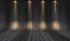 Wood background grey. Wood texture background with under spot light Stock Images