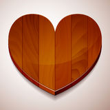 Wood background heart Stock Photo