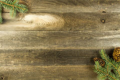 Wood background with leaves Royalty Free Stock Photography
