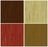 Wood background pattern set. Chocolate, beige, red Royalty Free Illustration