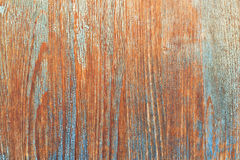 Wood background with peeled paint Stock Images