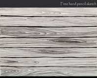 Wood background pencil sketch Royalty Free Stock Photo