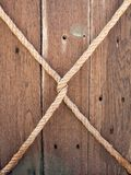 Wood background with rope. Texture vector illustration
