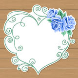 Wood background with roses Royalty Free Stock Photos