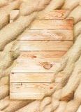 Wood background and sand texture Royalty Free Stock Images