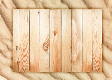 Wood background and sand texture Royalty Free Stock Photography