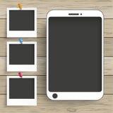 Wood Background Smartphone Photo Frames Stock Photos