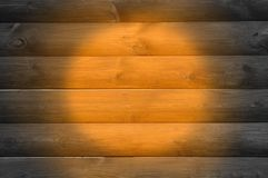 Wood Background with Spotlight Royalty Free Stock Photos
