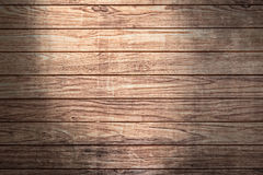 Wood background with sunlight spot Stock Photography