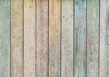 Wood background or texture with pastel colored planks. Wood background with vertical pastel painted planks stock photography