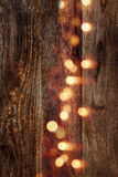 Wood background vertical with bokeh Stock Photo