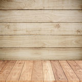 Wood background wall with wood floors Stock Photos