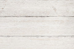 Wood Background, White Wooden Grain Texture, Planks Table Royalty Free Stock Images