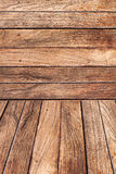 Wood background - wooden floor and wall Stock Images