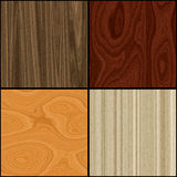 Wood backgrounds. A set of 4 different wood textures. High resolution Royalty Free Stock Image