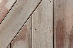 Wood bakgrund för plankabrowntextur Arkivbilder