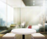 Wood bakgrund för tabellöverkanten i sovrummet 3d framför Fotografering för Bildbyråer