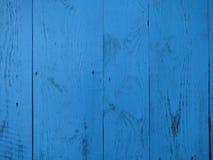 Wood bakgrund för turkos - målade träplankor arkivfoto