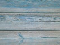 Wood bakgrund för turkos - målade träplankor för skrivbord bordlägger väggen eller golvet arkivbild