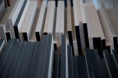 Wood bakgrund för vägggeometrigarnering, abstrakt bakgrund Royaltyfria Foton
