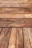 Wood bakgrund - trägolv och vägg Arkivbilder