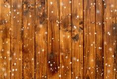 wood bakgrundssnowflakes Arkivbilder