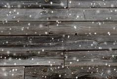 wood bakgrundssnowflakes Royaltyfria Foton