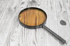 Wood bakgrundstextur och förstoringsapparat Arkivbilder