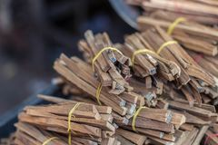 Wood for baking fire and fragrant royalty free stock images