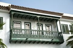 Wood balcony Stock Photography