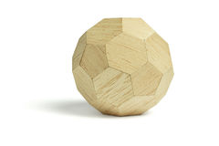 Wood ball block Royalty Free Stock Image