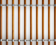 Wood baluster on cement wall Royalty Free Stock Images