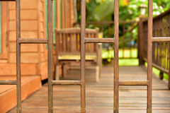 Wood balusters Royalty Free Stock Photos