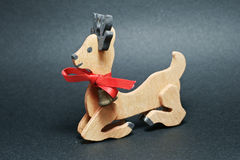 Wood Bambi. A Bambi wooden Christmas ornaments Stock Photography