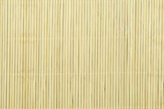 Wood bambu Mat Texture Background royaltyfri bild