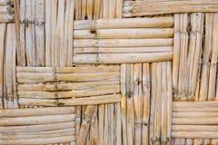Wood bambu Mat Texture Background Royaltyfri Bild