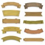Wood baner och band för tecknad film