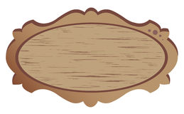 Wood banner Stock Image