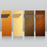 Wood banner  Royalty Free Stock Image