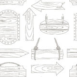 Wood banners boards pattern Stock Image