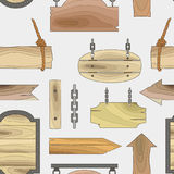 Wood banners boards pattern Royalty Free Stock Photography