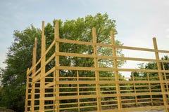 Wood barn framing Royalty Free Stock Photos